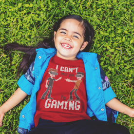 Virtual Reality - Kid's Gaming Tee - Can't Hear You I'm Gaming